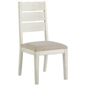 Dining Upholstered Ladder Back Side Chair