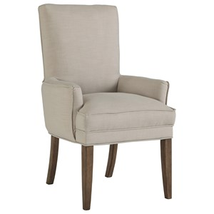 Dining Upholstered Arm Chair with Pillowtop Seat Cusion