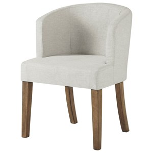 Dining Upholstered Barrelback Arm Chair
