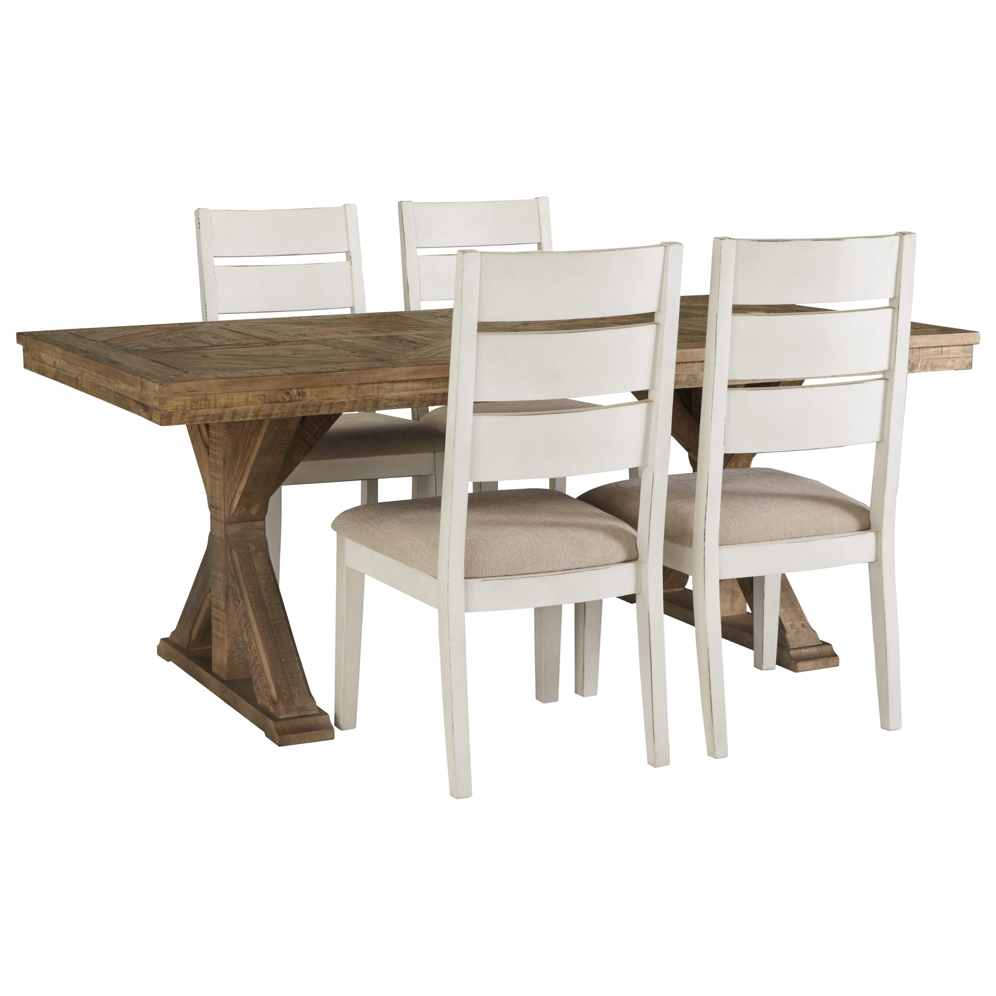 Grindleburg 5 Piece Rectangular Table and Chair Set by Signature Design by Ashley at Northeast Factory Direct