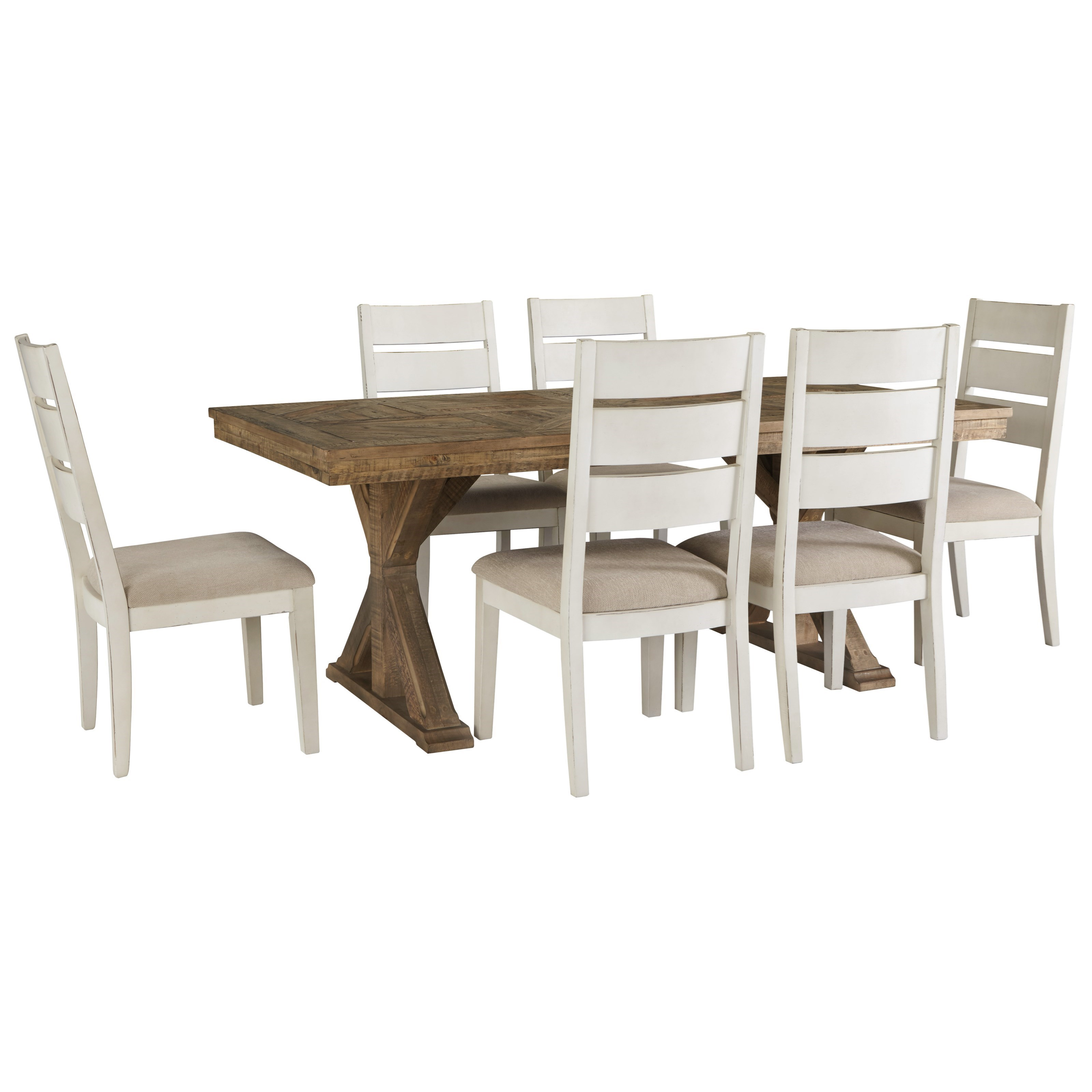 Grindleburg 7 Piece Rectangular Table and Chair Set by Signature Design by Ashley at Value City Furniture