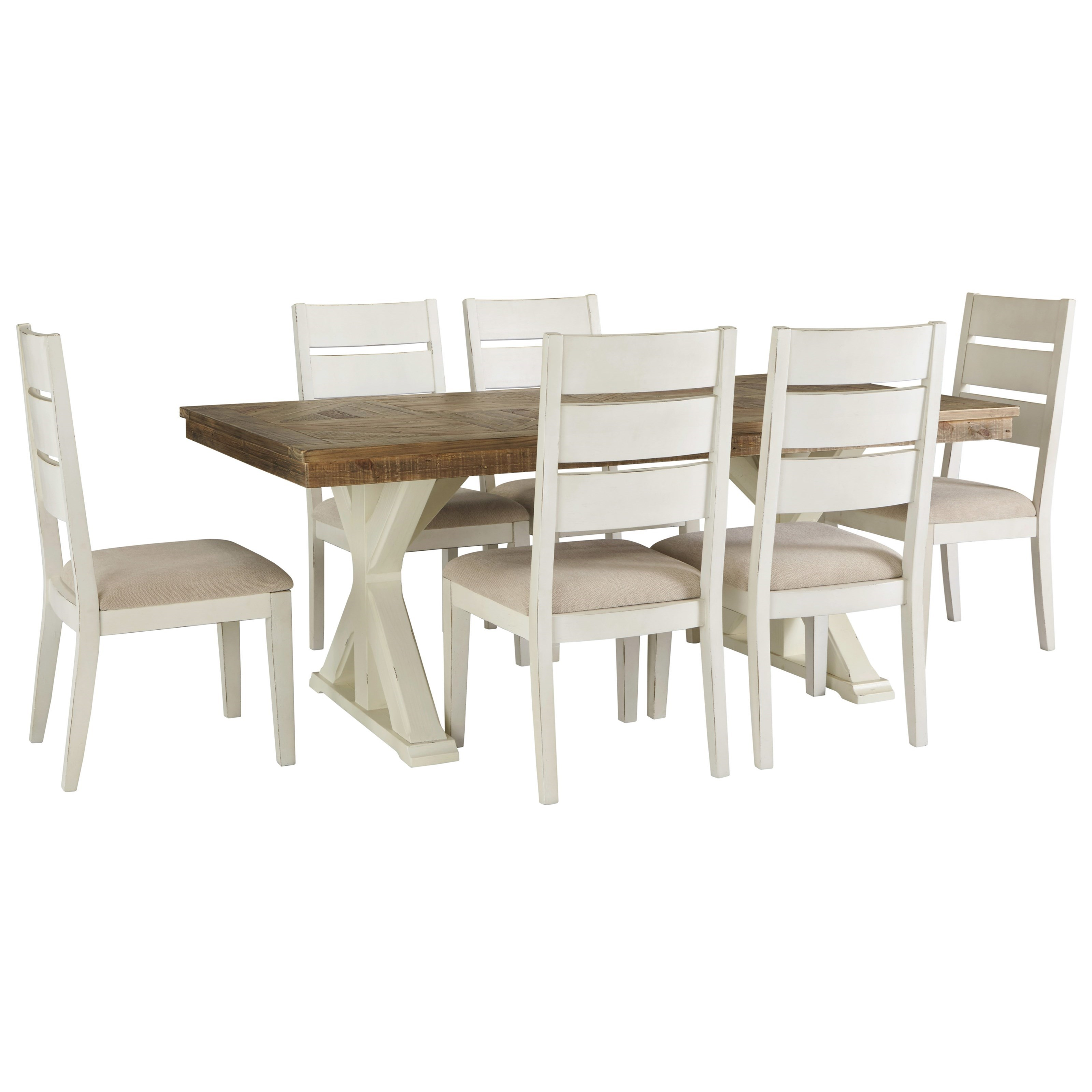 Grindleburg 7 Piece Rectangular Table and Chair Set by Signature Design at Fisher Home Furnishings