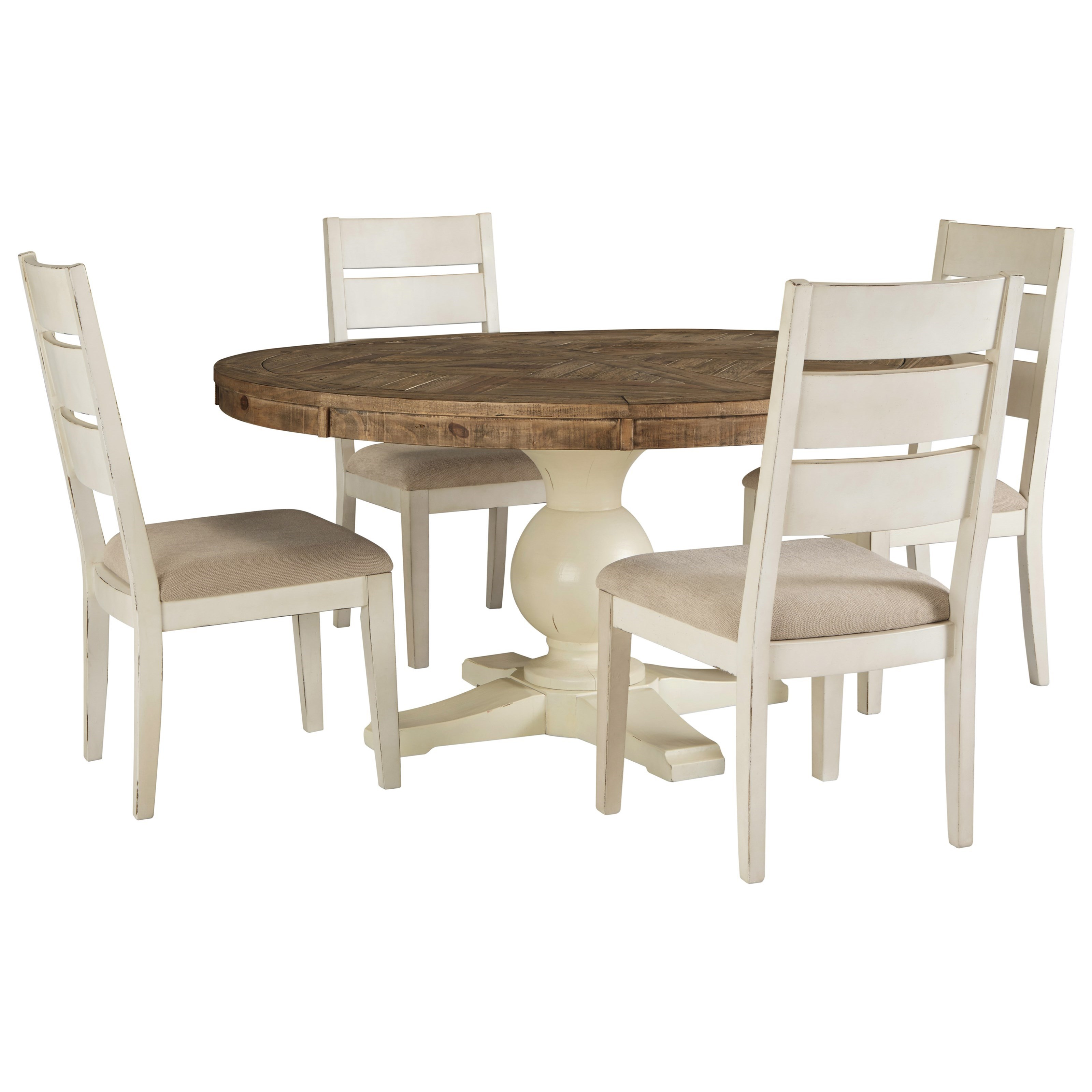 Grindleburg 5 Piece Round Table and Chair Set by Signature Design by Ashley at Value City Furniture