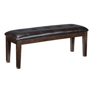 Large Faux Leather Upholstered Dining Room Bench