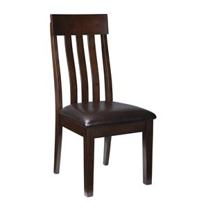 Slat Back Dining Upholstered Side Chair w/ Lumbar Support