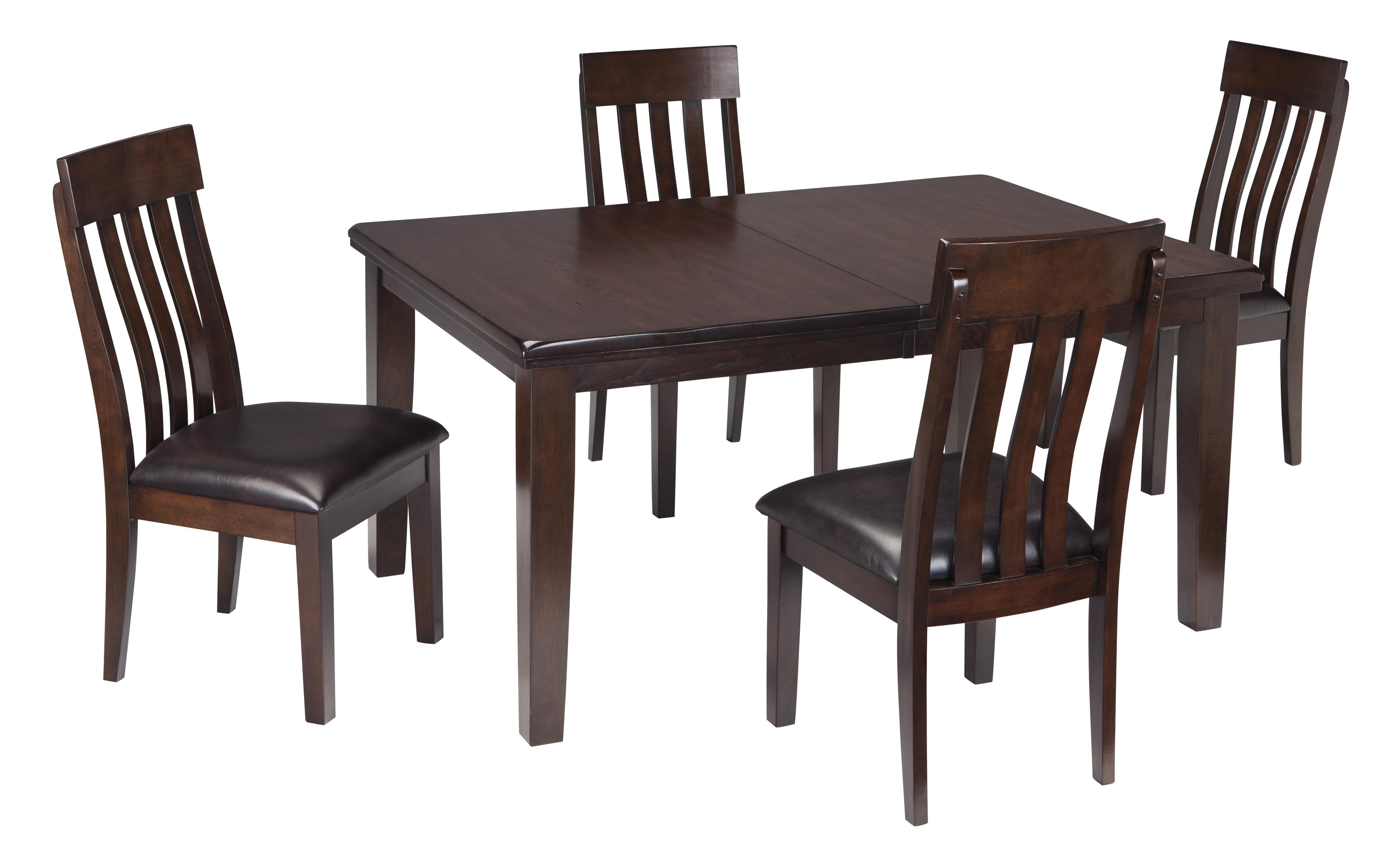 Haddigan 5-Piece Dining Room Table & Side Chair Set by Signature Design by Ashley at Beck's Furniture