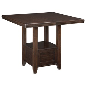 Rectangular Dining Room Counter Extension Table with Shelf