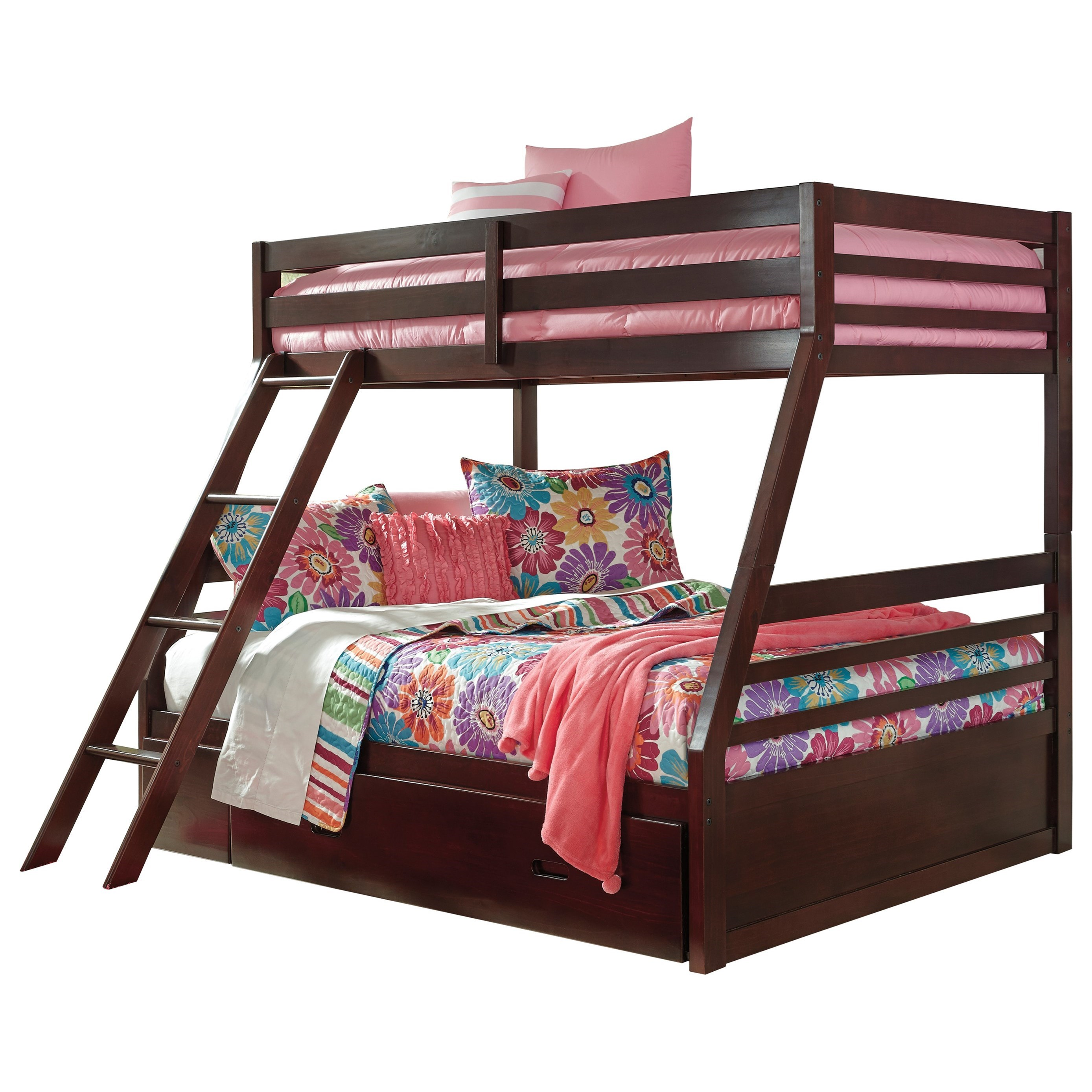Halanton Twin/Full Bunk Bed w/ Under Bed Storage by Ashley (Signature Design) at Johnny Janosik