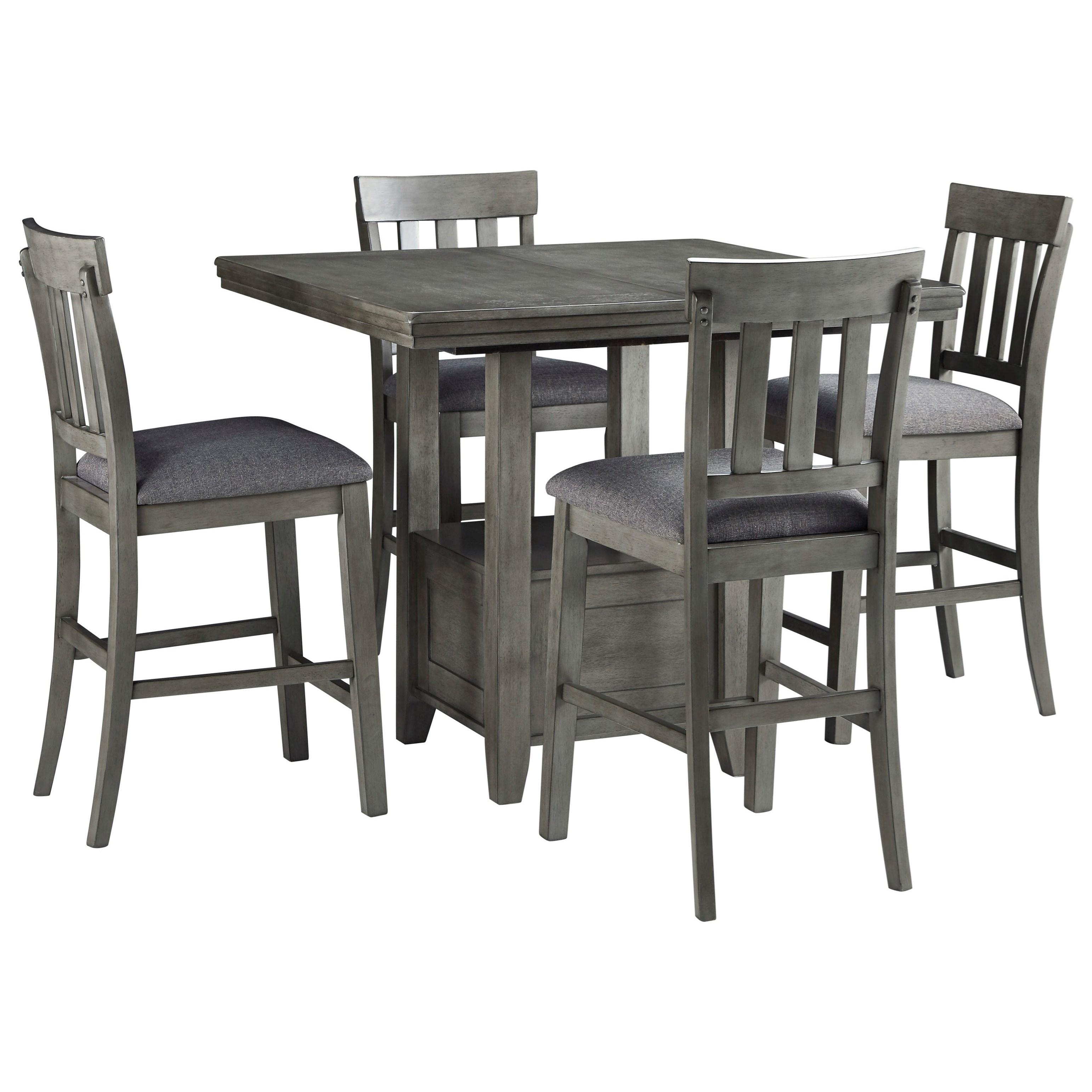 Hallanden 5-Piece Pub Table Set by Signature Design by Ashley at Furniture Barn