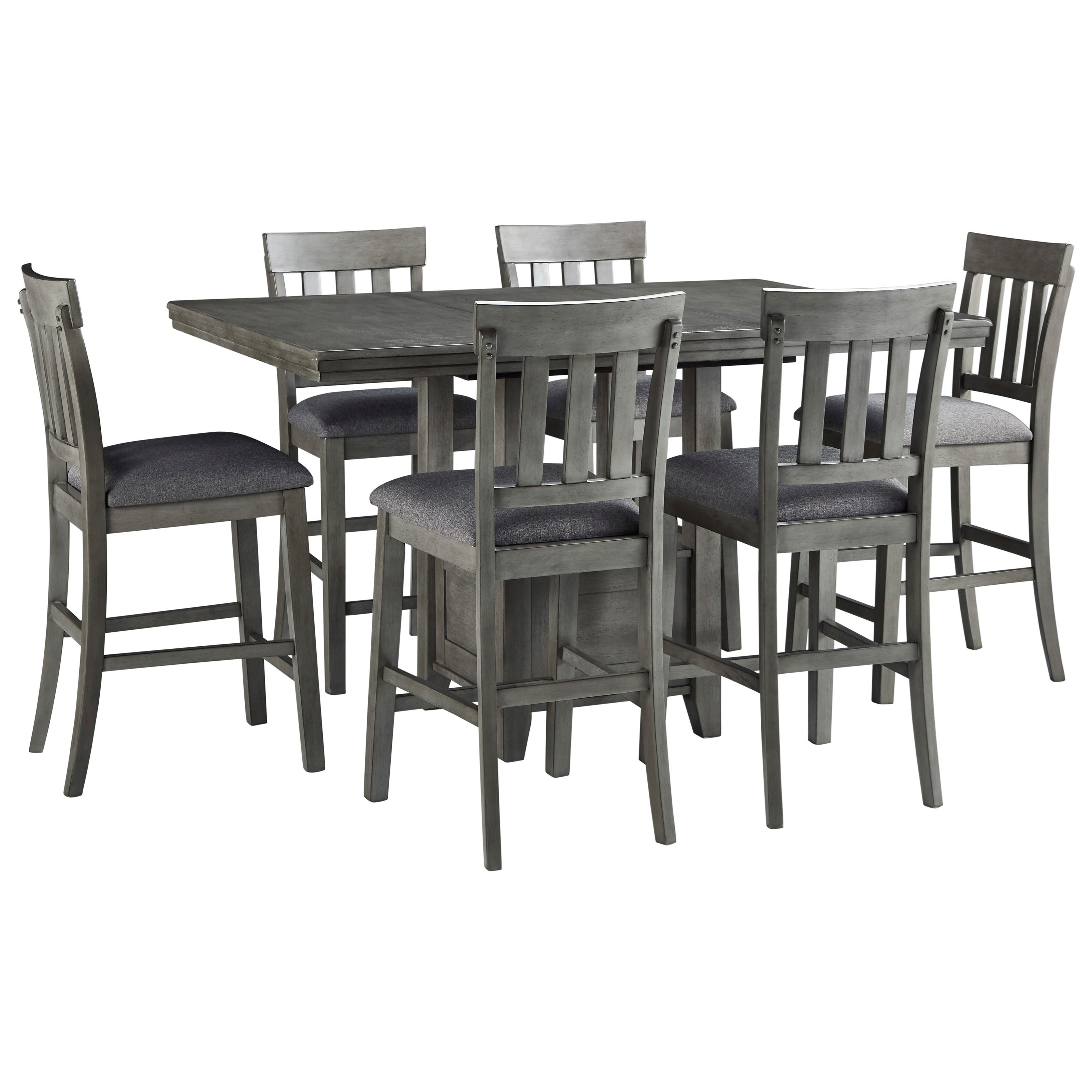 Hallanden 7-Piece Counter Height Dining Set by Signature Design by Ashley at Sparks HomeStore