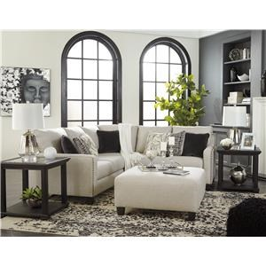 Fog 3 PC Sectional and Ottoman Set