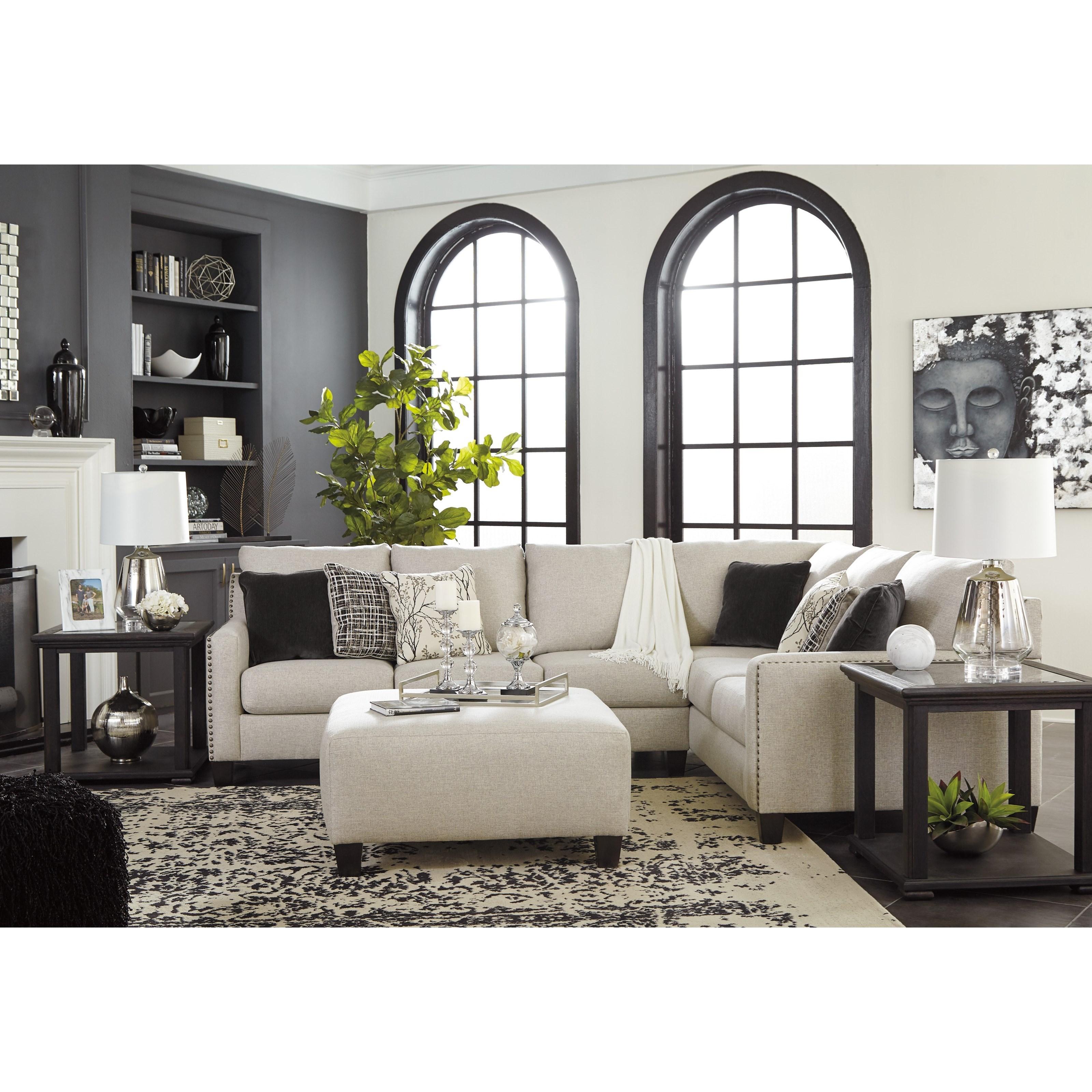 Hallenberg Living Room Group by Signature at Walker's Furniture