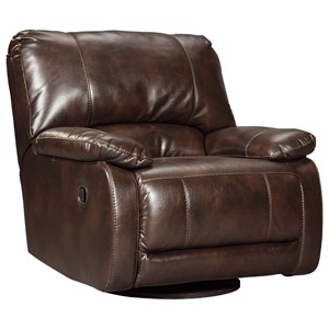 Casual Contemporary Swivel Glider Recliner