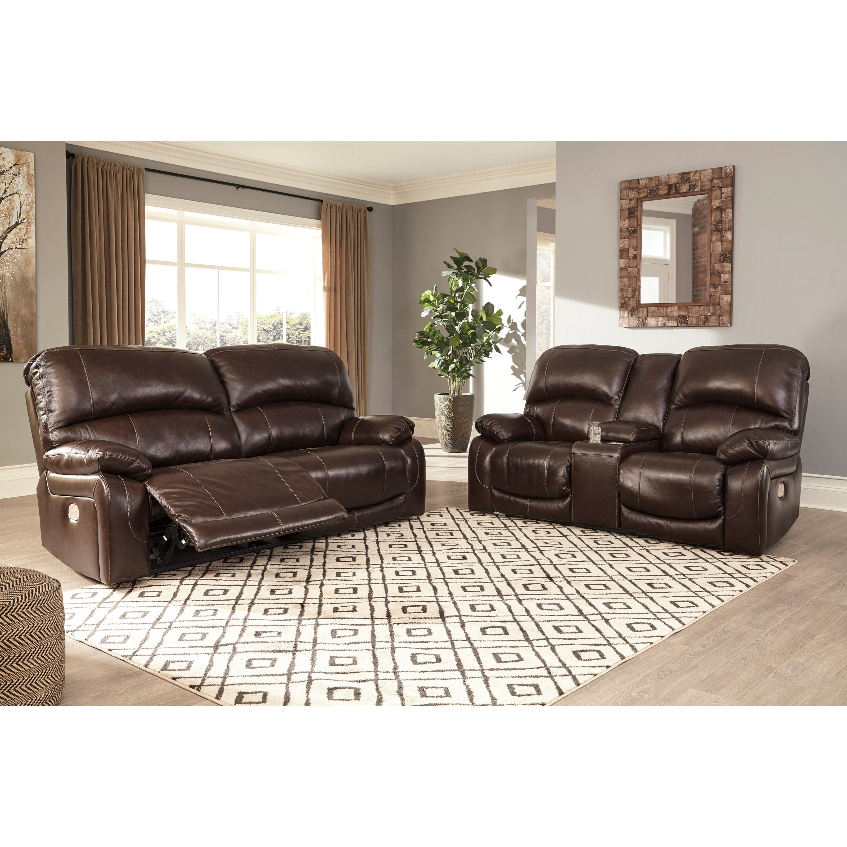 Hallstrung Power Reclining Living Room Group by Ashley (Signature Design) at Johnny Janosik