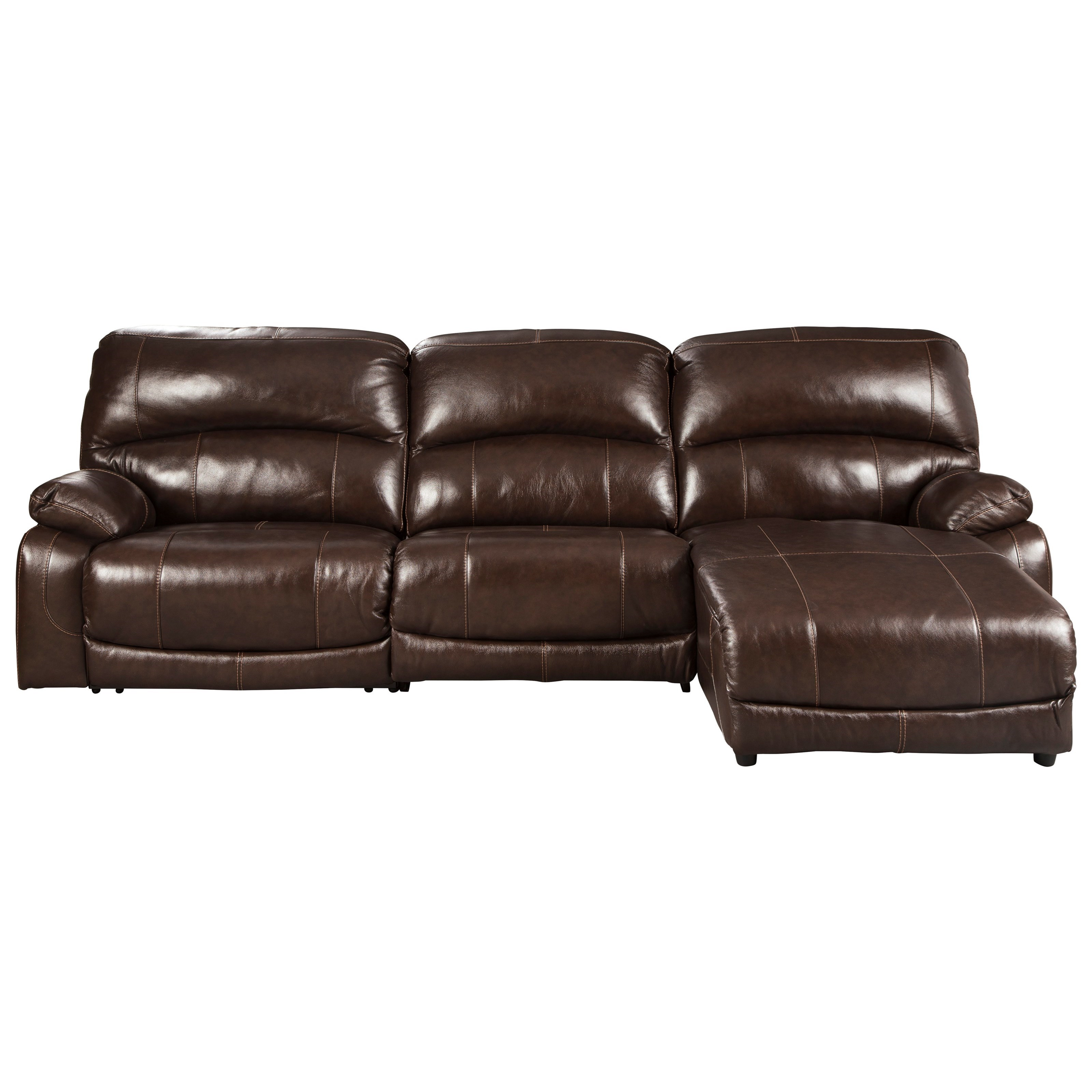 Hallstrung 3-Piece Reclining Sectional with Chaise by Signature Design by Ashley at Northeast Factory Direct