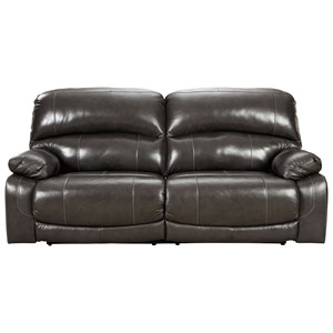 Leather Match 2 Seat Reclining Power Sofa