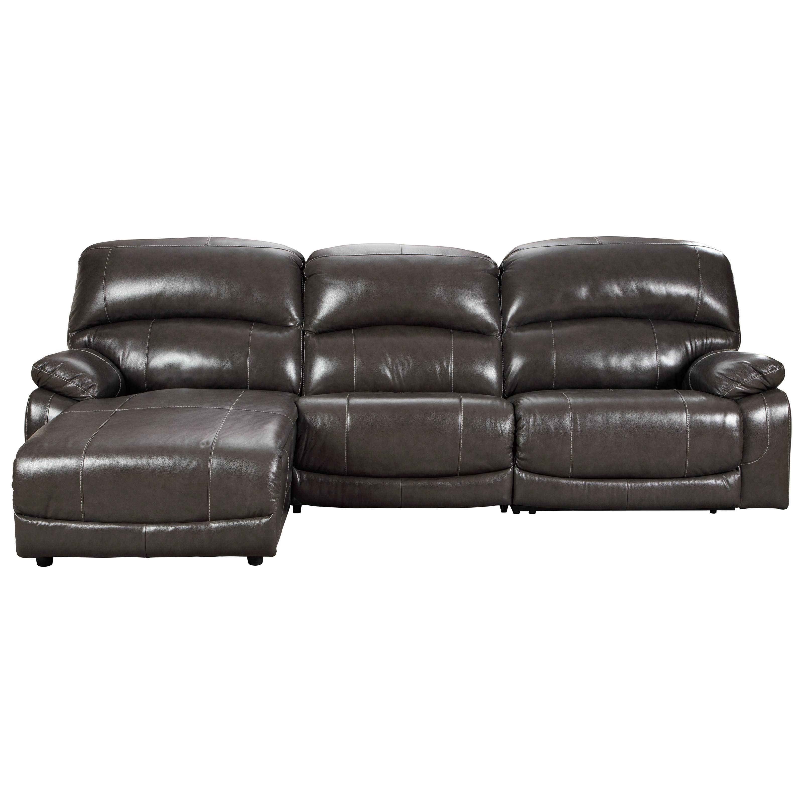 Hallstrung 3-Piece Reclining Sectional with Chaise by Signature Design by Ashley at Value City Furniture