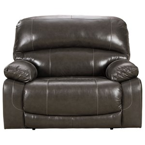 Leather Match Power Wide Recliner