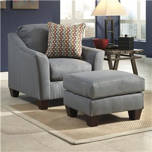 Signature Design by Ashley Hannin - Lagoon Chair & Ottoman