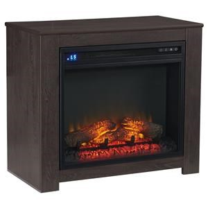 Small Fireplace Mantle with Electric Insert