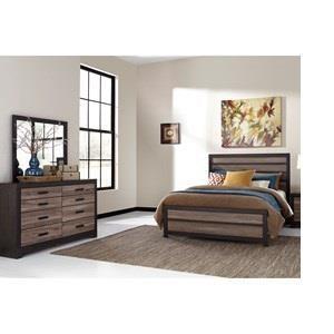 Queen Bedroom Set, Dresser and Mirror