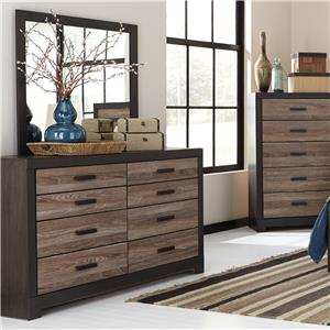 Rustic Two-Tone Dresser & Bedroom Mirror