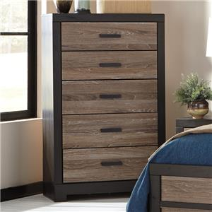 Rustic Two-Tone 5-Drawer Chest