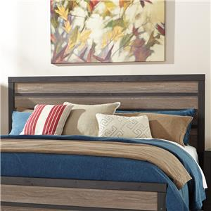 Rustic King Panel Headboard with Two-Tone Plank Look