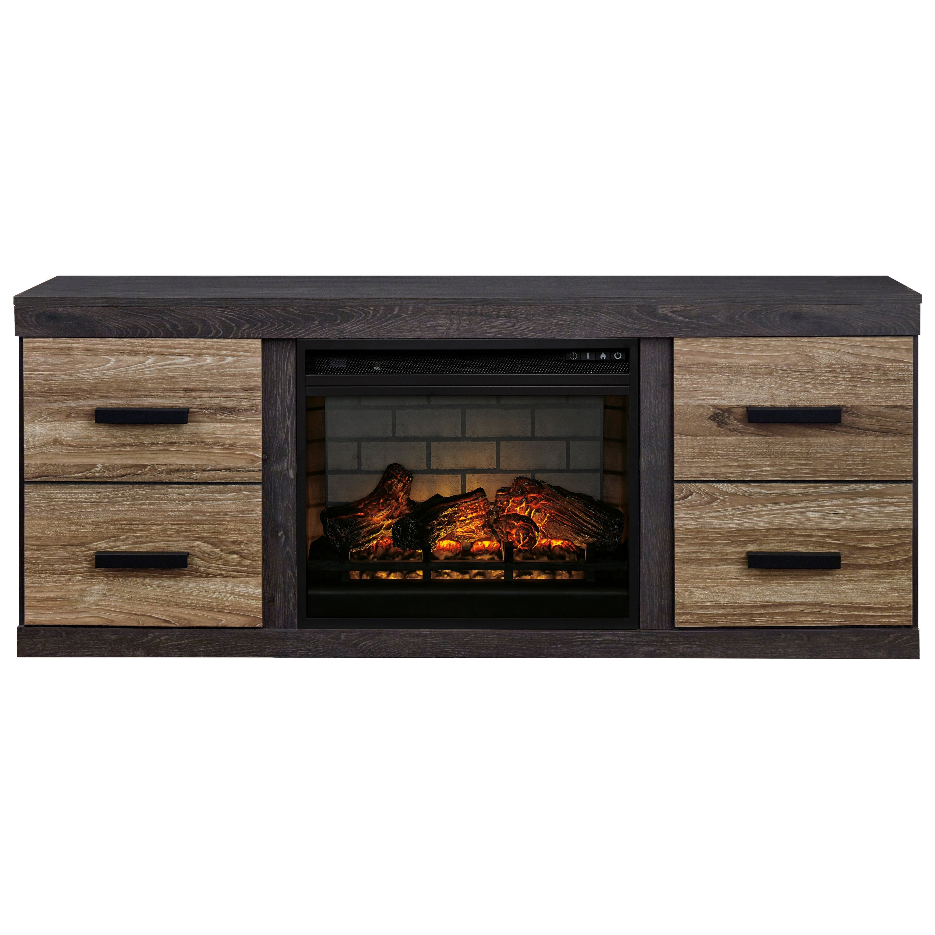 Harlinton Large TV Stand w/ Fireplace Insert by Signature Design by Ashley at Northeast Factory Direct