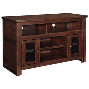 Mango Veneer Medium TV Stand with Glass Doors