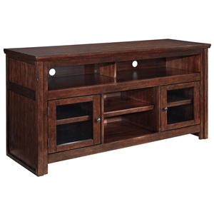 Mango Veneer Large TV Stand with Glass Doors