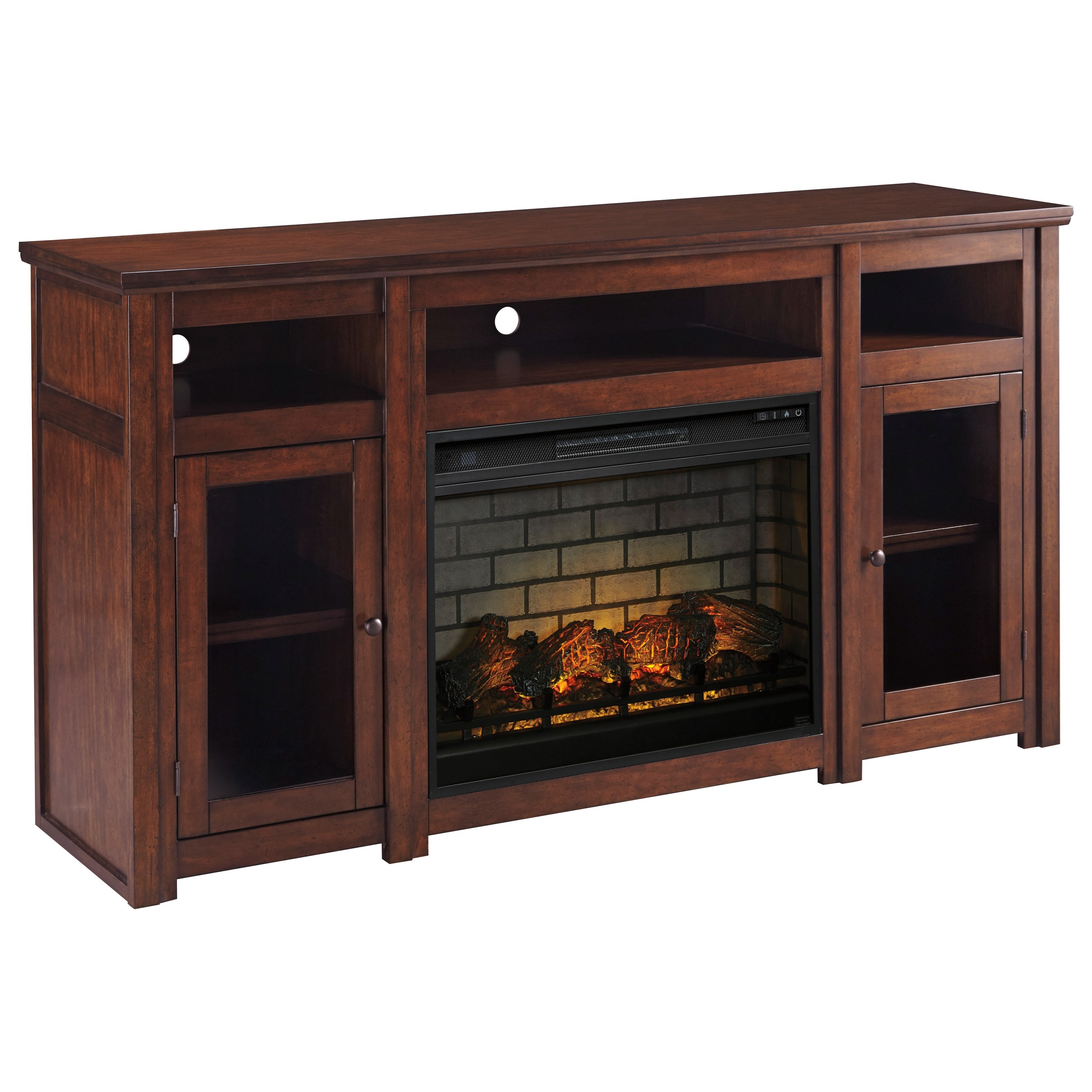 Harpan Extra Large TV Stand with Fireplace Insert by Signature Design by Ashley at Furniture Fair - North Carolina