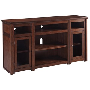 Mango Veneer Extra Large TV Stand with Glass Doors