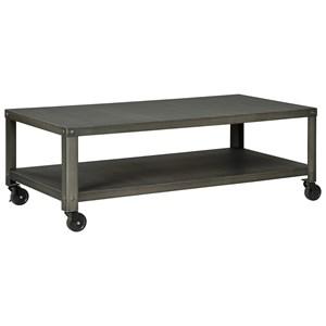 Rectangular Industrial Metal Cocktail Table