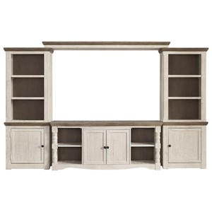 Relaxed Vintage Entertainment Wall Unit