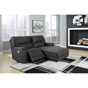 Power Reclining Sectional with Built-in USB Port