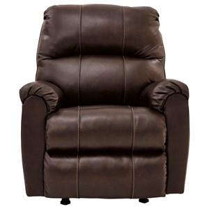 Brown Leather Match Rocker Recliner