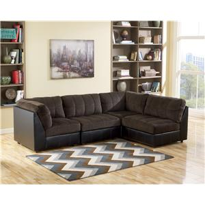 Flexsteel Bryant Contemporary Sectional Sofa With 3 Modular Pieces Godby Home Furnishings