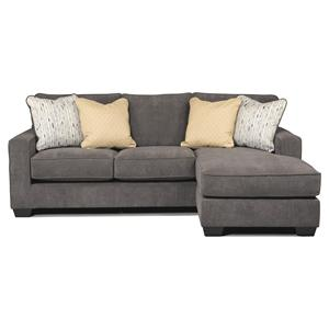 Contemporary Sofa Chaise with Track Arms & Left or Right Configurable Chaise