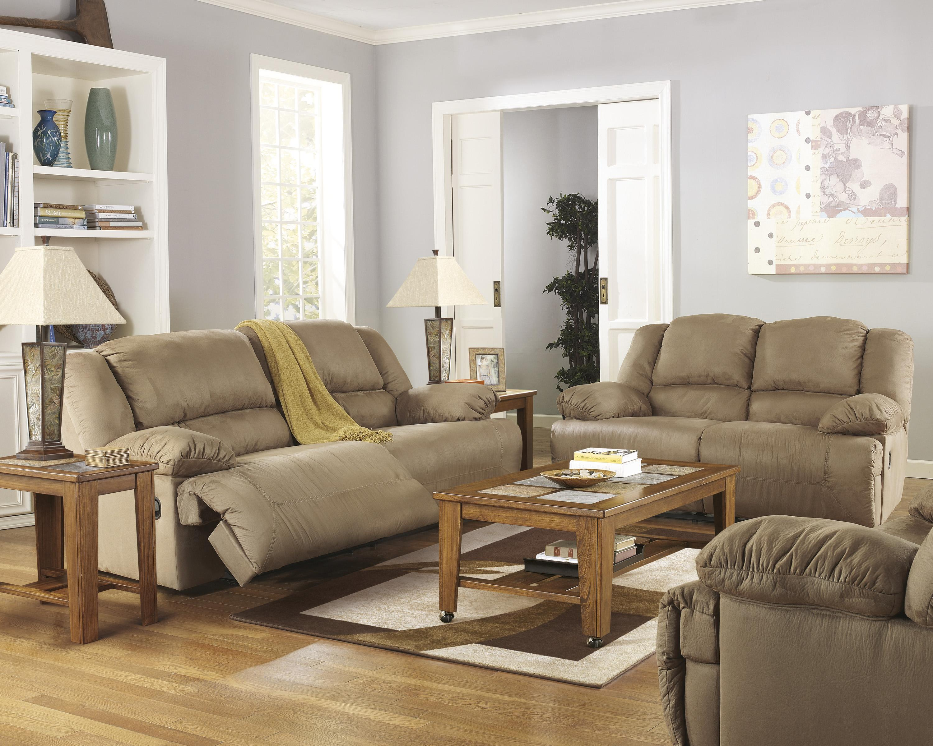 Hogan - Mocha Reclining Living Room Group by Signature Design by Ashley at Zak's Warehouse Clearance Center