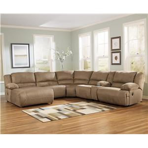 Signature Design by Ashley Hogan - Mocha 6 Piece Sectional Sofa Group