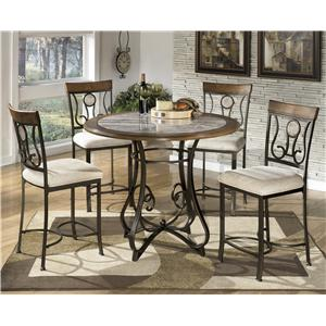 Signature Design by Ashley Hopstand 5-Piece Round Counter Table Set