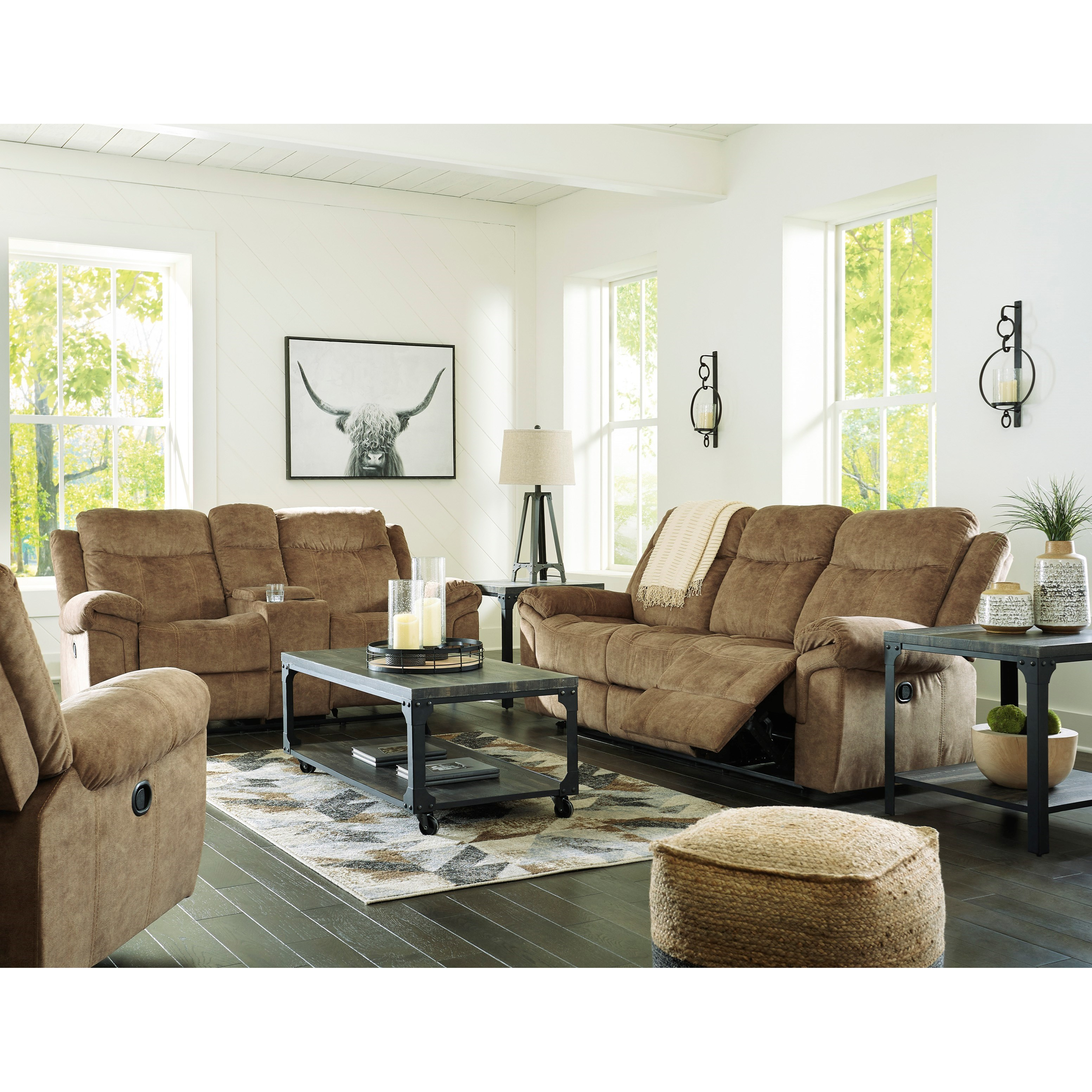 Huddle-Up Reclining Living Room Group at Sadler's Home Furnishings