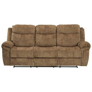 Reclining Sofa w/ Drop Down Table, Storage Drawer, and USB Charging