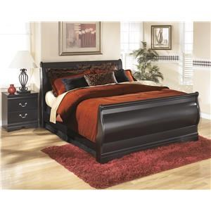 Full Sleigh Bed, Nightstand and Chest Package