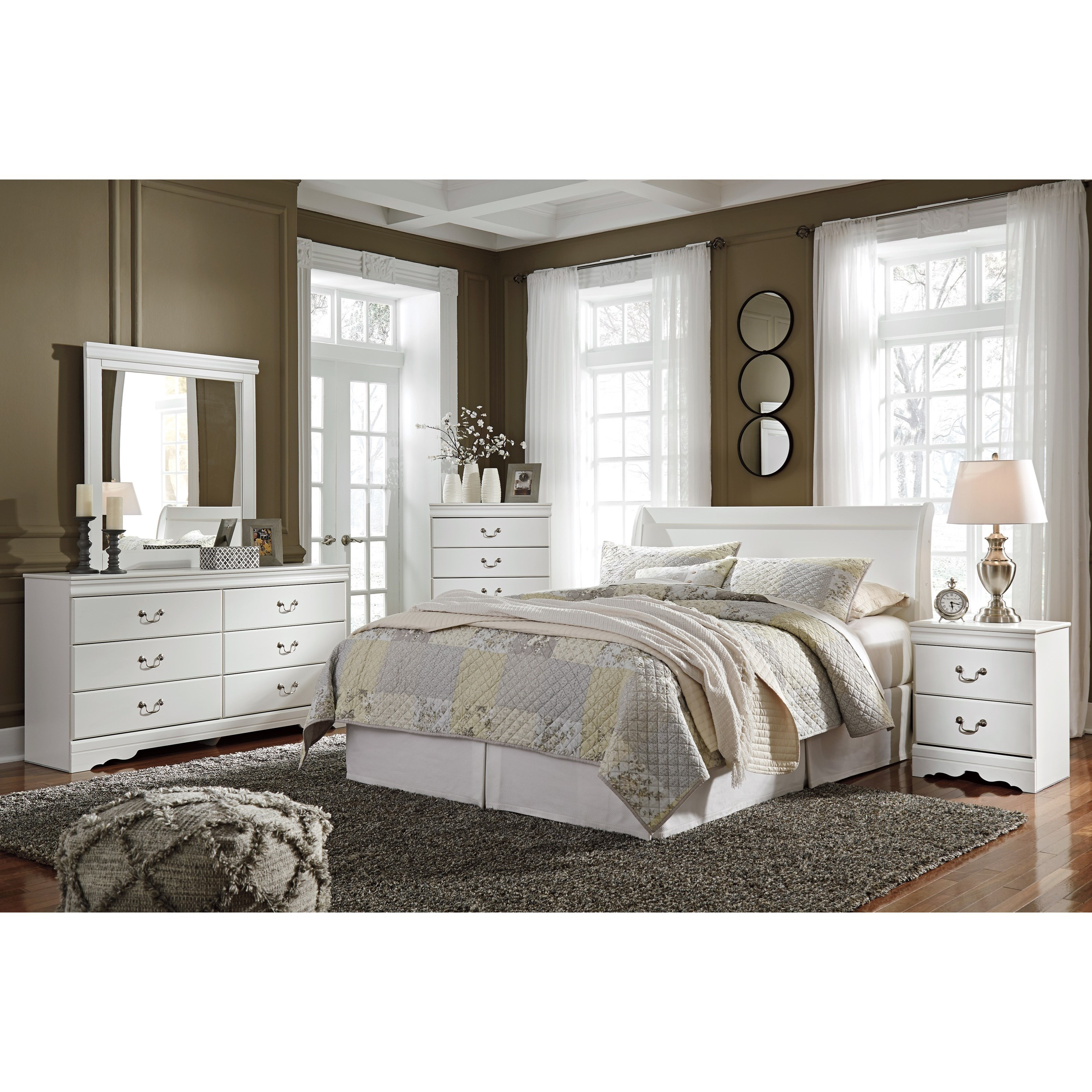 Anarasia Queen Bedroom Group by Signature Design by Ashley at Nassau Furniture and Mattress