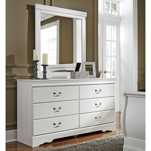 6 Drawer Dresser and Mirror Combination