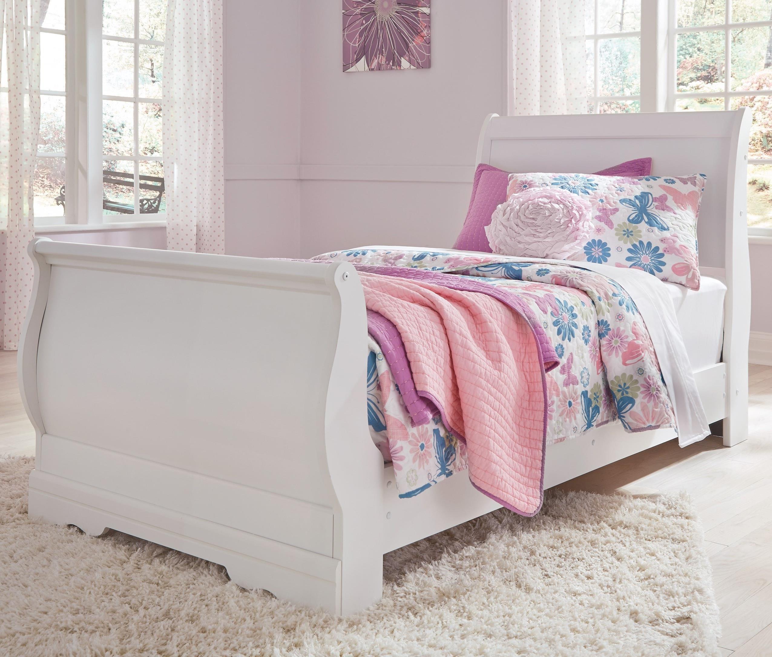 Anarasia Twin Sleigh Bed by Ashley (Signature Design) at Johnny Janosik