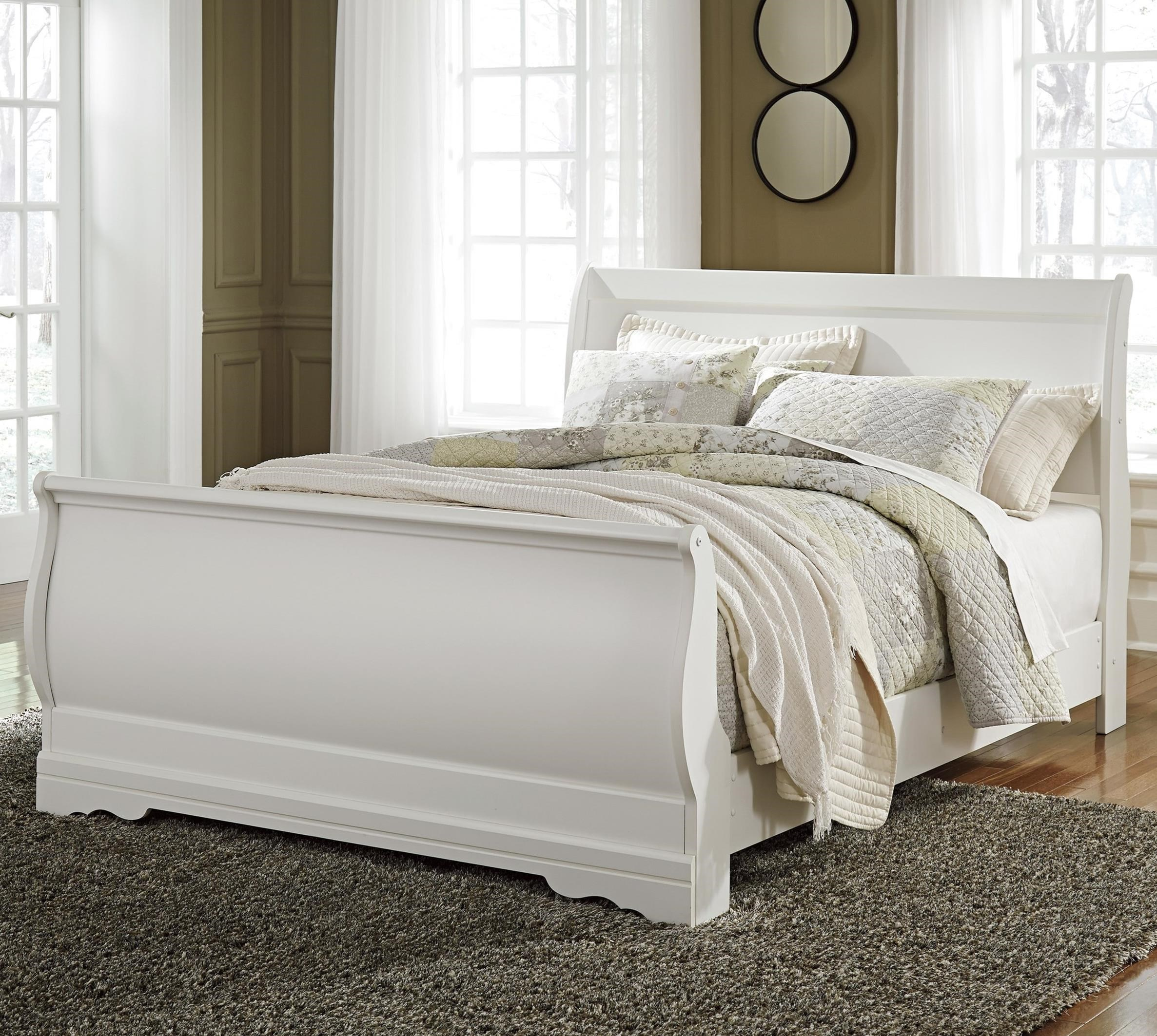 Anarasia Queen Sleigh Bed by Signature Design by Ashley at Zak's Warehouse Clearance Center