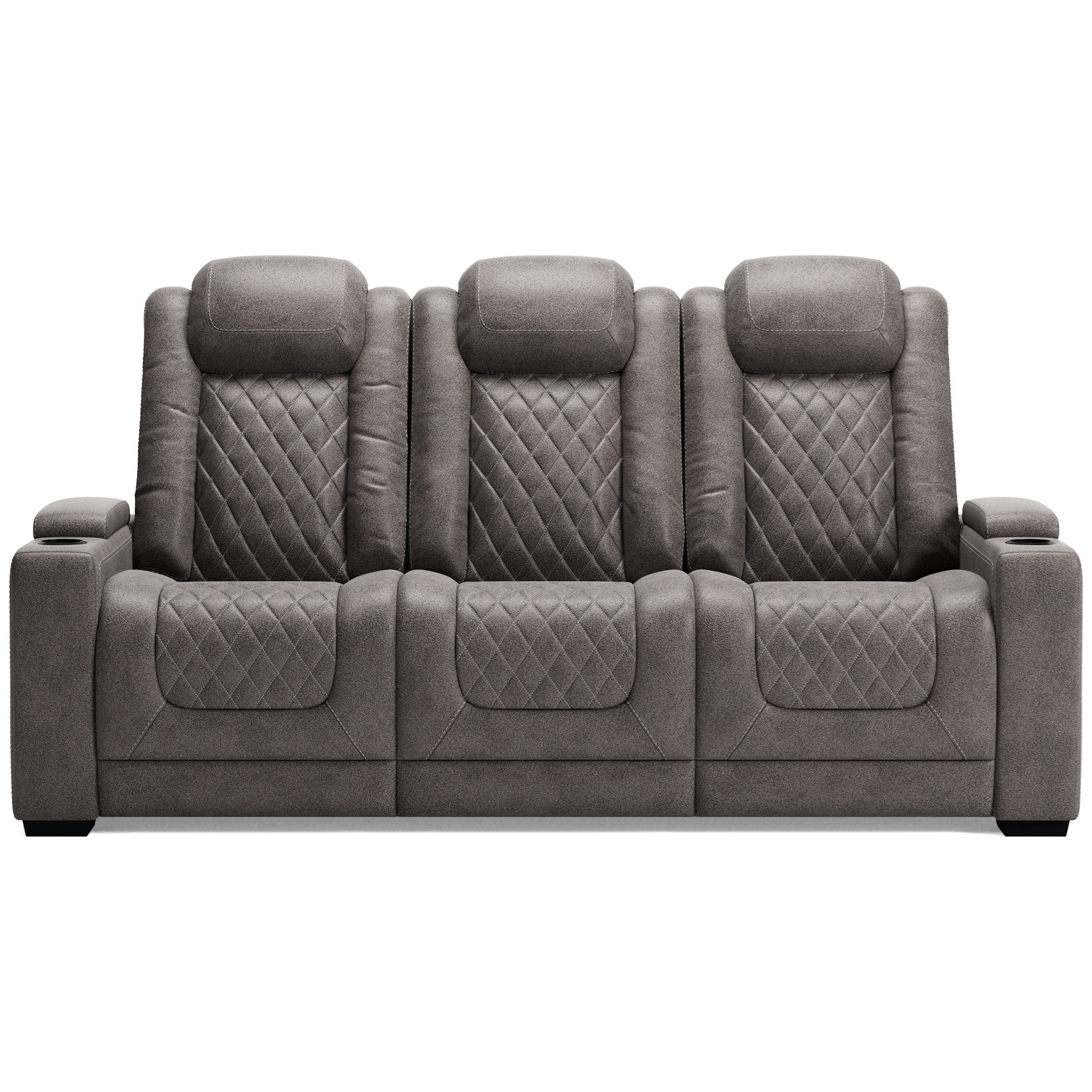Hyllmont Pwr Rec Sofa with Adj Headrests by Signature Design by Ashley at Zak's Warehouse Clearance Center